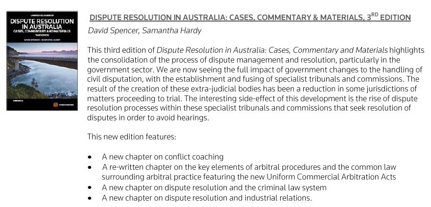 DR in Aust blurb